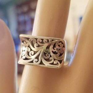 Lois hill Sterling Silver heavy floral